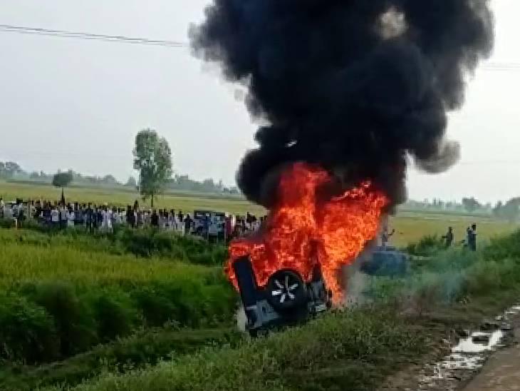 लखीमपुर खीरी में बवाल, बेकाबू कार ने किसानों को कुचला, 3 लोगों की मौत